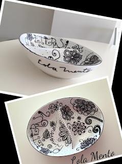 ilustracioneslolamento, vajilla ilustrada, vajilla reciclada, vida en tu cocina, doodle, zentangle, Lola Mento, primavera, flores, flores dibujadas