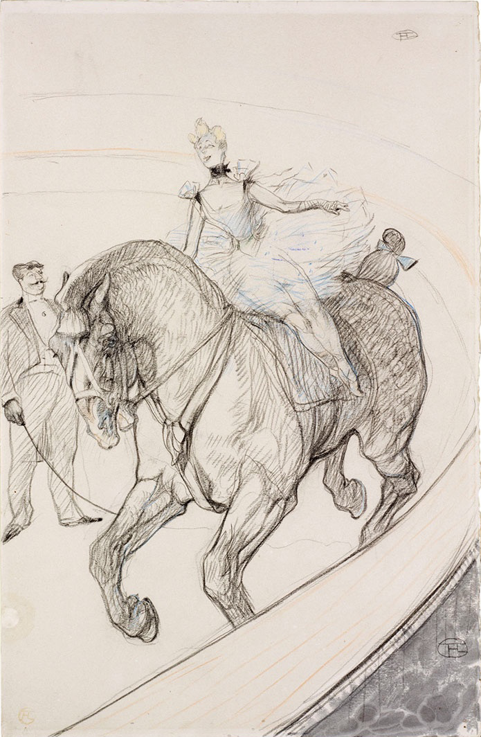 In the Circus, Work Without Saddle by Henri de Toulouse-Lautrec
