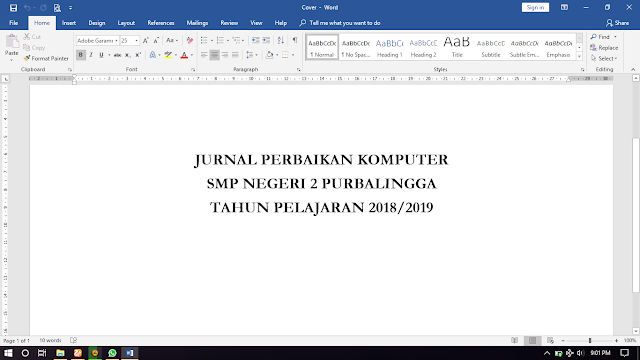 Contoh Jurnal Perbaikan Komputer SMP Negeri 2 Purbalingga