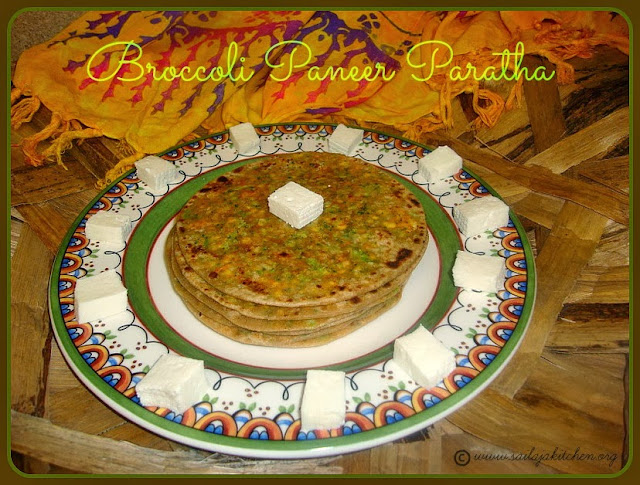 image of Broccoli Paneer Paratha Recipe / Broccoli & Cottage Cheese Parata Recipe/ Broccoli Paneer Stuffed Paratha Recipe