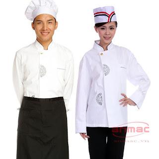 Nhan may dong phuc nha bep dong phuc nha hang chuyen nghiep