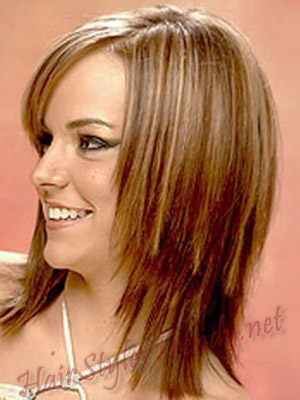 Surprising Hairstyles For Medium Length Straight Hair Hairstyles Haircuts Short Hairstyles Gunalazisus
