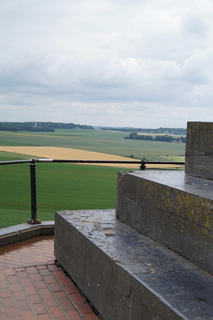 Ausblick vom Löwenhügel in Waterloo, Belgien
