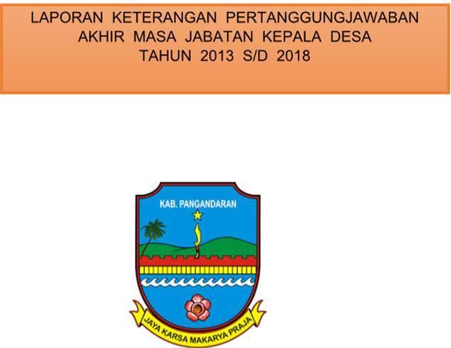 Contoh Laporan Kepala Desa Akhir Masa Jabatan