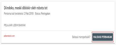 muncul Peringatan Diindeks, Meski Diblokir Oleh Robots.txt