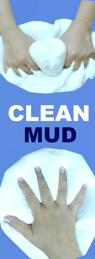 CLEAN MUD FOR KIDS: All the fun of mud with none of the mess!  My kids love this stuff!  #playrecipes #craftsforkids #kidsactivities
