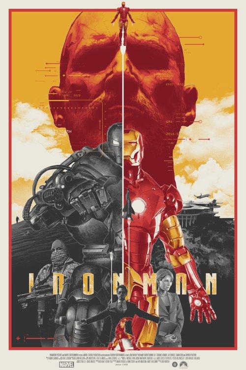 Grzegorz Domaradzki ilustrações cartazes pôsteres filmes arte cinema Iron Man (Homem de Ferro)