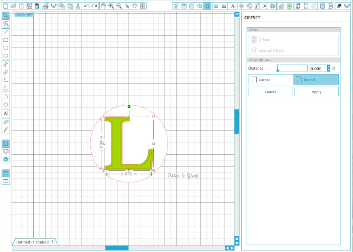 Using Internal Offset to Create a Monogram Design in Silhouette Studio