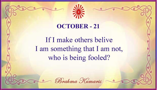 Thought For The Day October 21