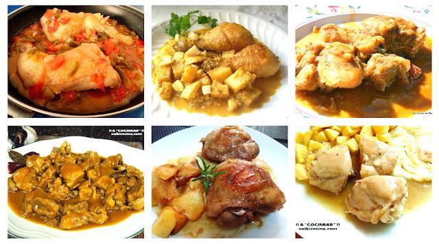 6 recetas de pollo en salsa
