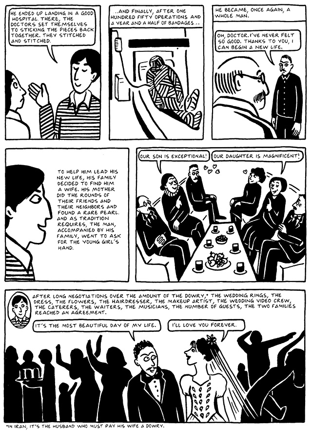 Read Chapter 11 - The Joke, page 110, from Marjane Satrapi's Persepolis 2 - The Story of a Return