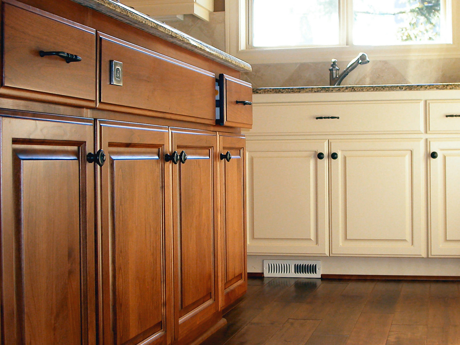 Refinishing kitchen cabinets before and after home for Refinishing kitchen cabinets before and after
