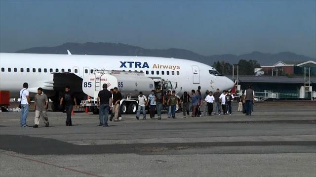 Guatemala recibe 8 vuelos semanales con deportados de EEUU