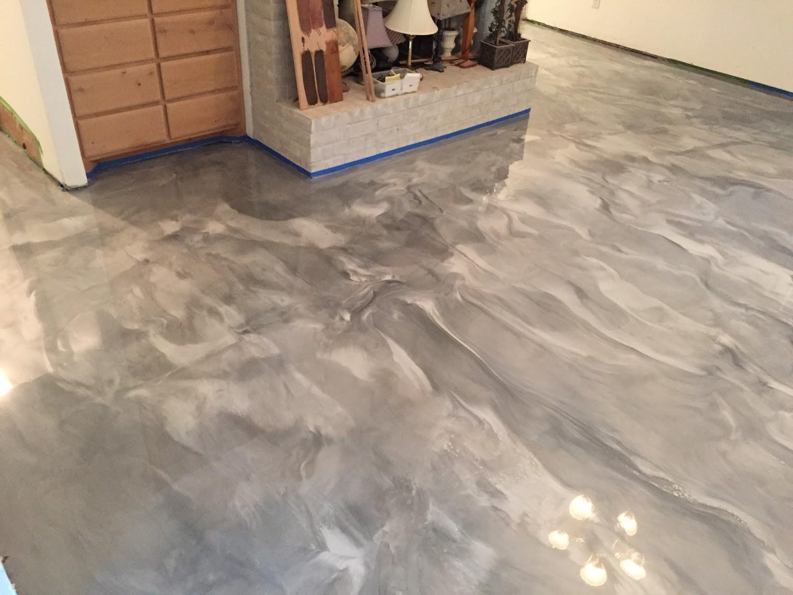 Epoxy Floor Coatings Metallic Epoxy Flooring In Living