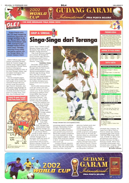 ROAD TO WORLD CUP 2002 SENEGAL TEAM PROFILE
