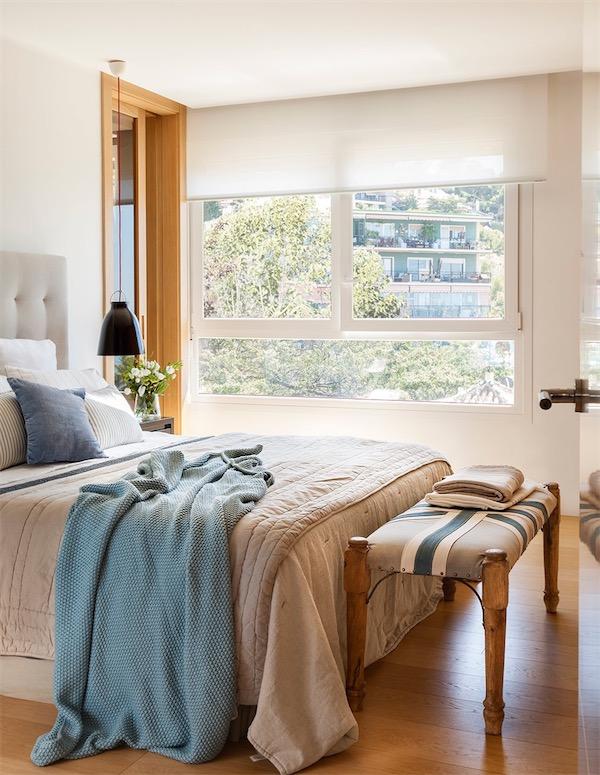 dormitorio con cabecero capitone chicanddeco
