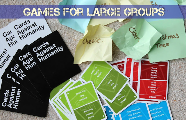 Games to play with friends and family - board games activity