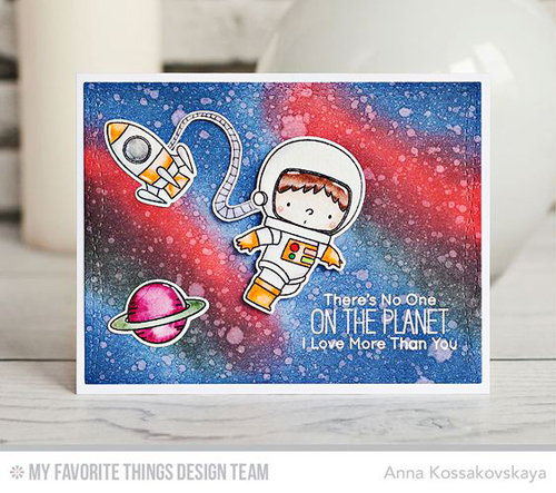 Handmade card from Anna Kossakovskaya featuring products from My Favorite Things #mftstam,ps