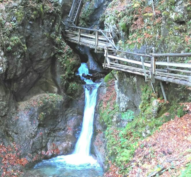 Wasserfall Vogelgesang-Klamm