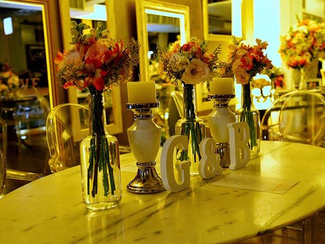 Decoração das Mesas dos Convidados - Mini Wedding / Casamento