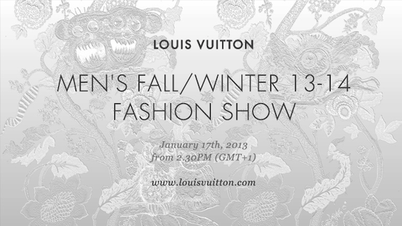 0b3dee44390 Talking Labels: Louis Vuitton Fall WInter 2013-2014 Men's Ready to Wear