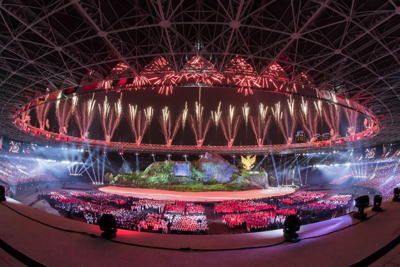 Keanekaragaman Indonesia dan Heroik, aksi Jokowi di Opening Asian Games 2018