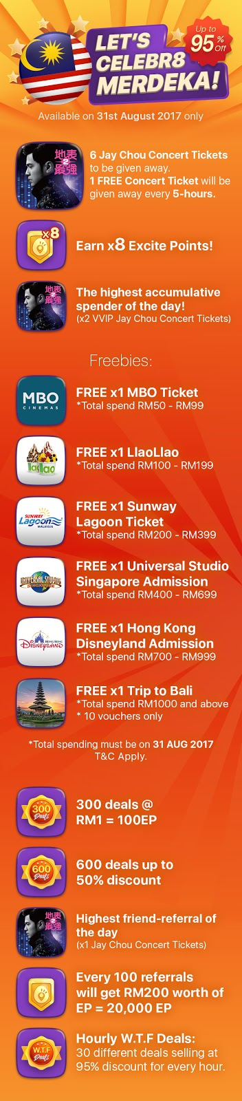 8excite Celebr8 Merdeka Deal Discount Offer Promo