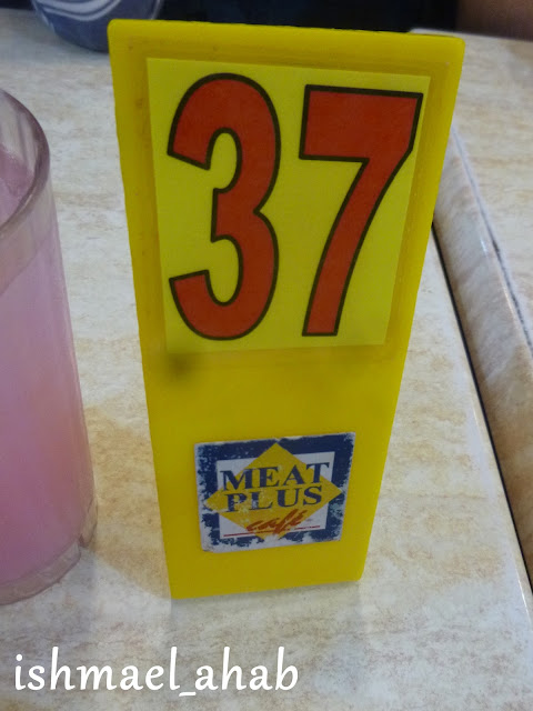 Lucky number in Meat Plus Cafe Subic