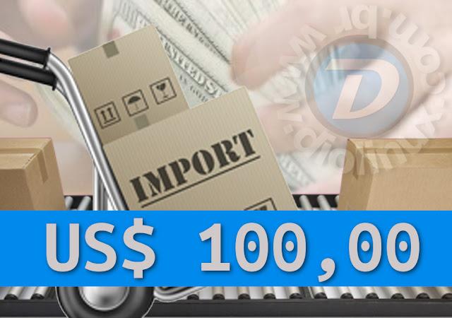 Compras abaixo de 100 dólares não podem ser taxadas