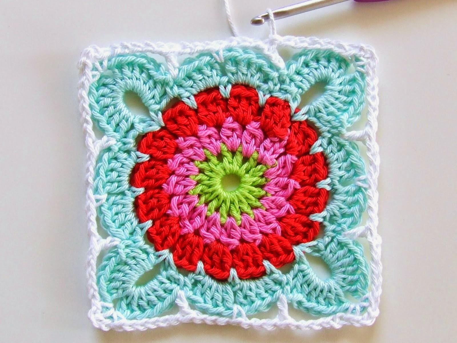 Mes Favoris Tricot Crochet Tuto Crochet Un Joli Carre