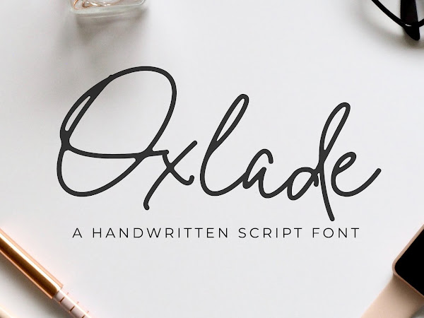 Oxlade Handwritten Signature Font Free Download
