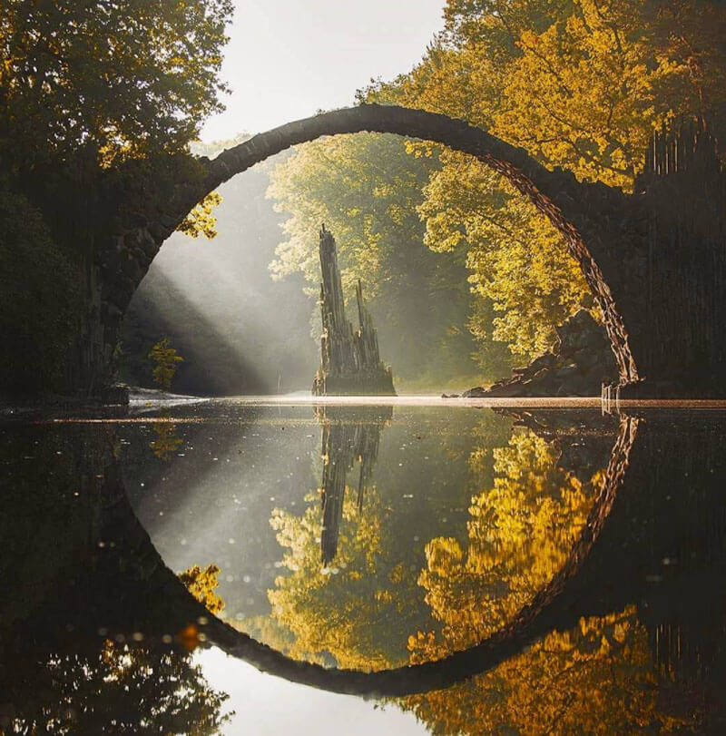 32 Stunning Places on Earth You Should Visit Before You Die - Devil's Bridge in Gablenz, Germany