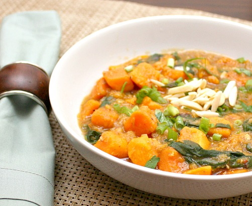 curried lentils with sweet potato