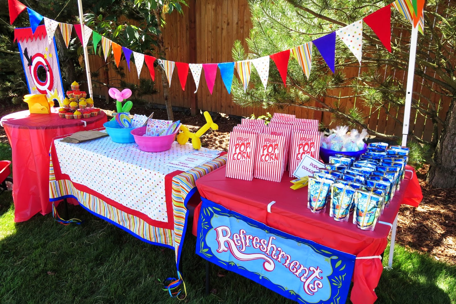 Seriously, Sabrina?: DIY backyard CARNIVAL Party {Emily's ...