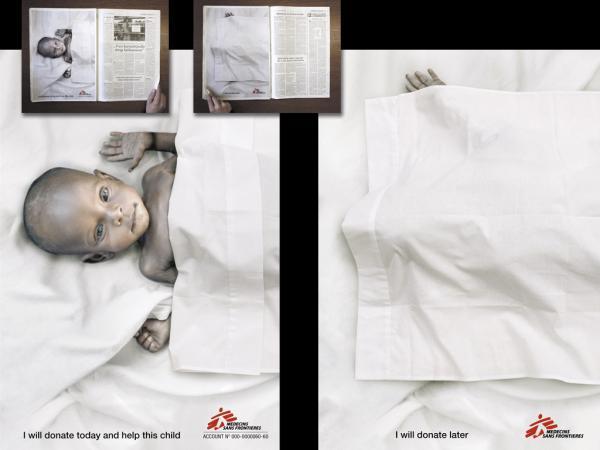 Green Pear Diaries, publicidad, advertising, Médicos sin Fronteras, ayuda infantil