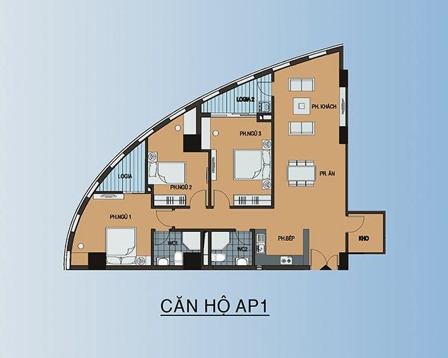 Căn hộ AP1 - 119,2m2