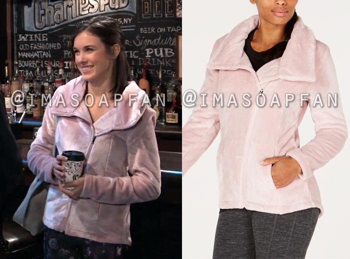 Willow Tait, Katelyn MacMullen, Light Pink Fleece Jacket, General Hospital, GH