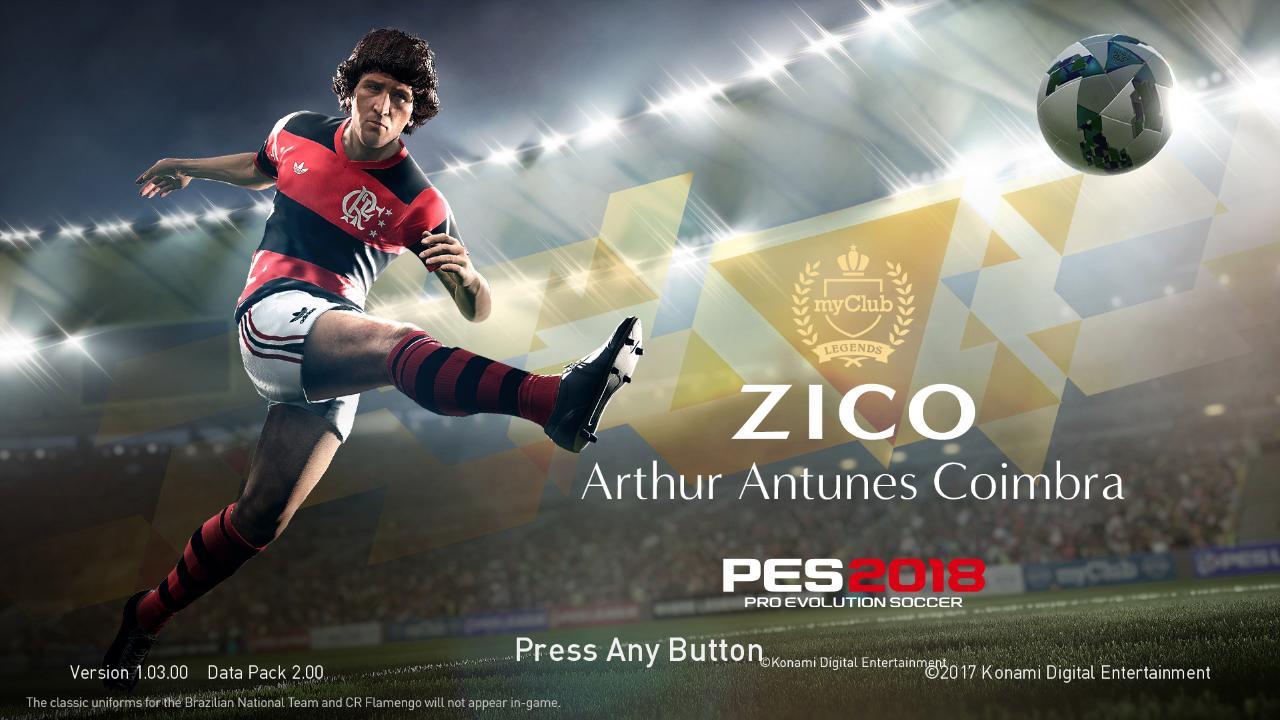 PES 2018 Zico Flamengo Startscreen V2 by ABW