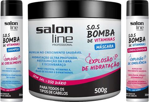 produtos para cabelos cacheados SOS Bomba Salon Line