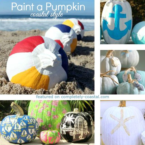 Painted Pumpkins Coastal, Beach and Nautical Style