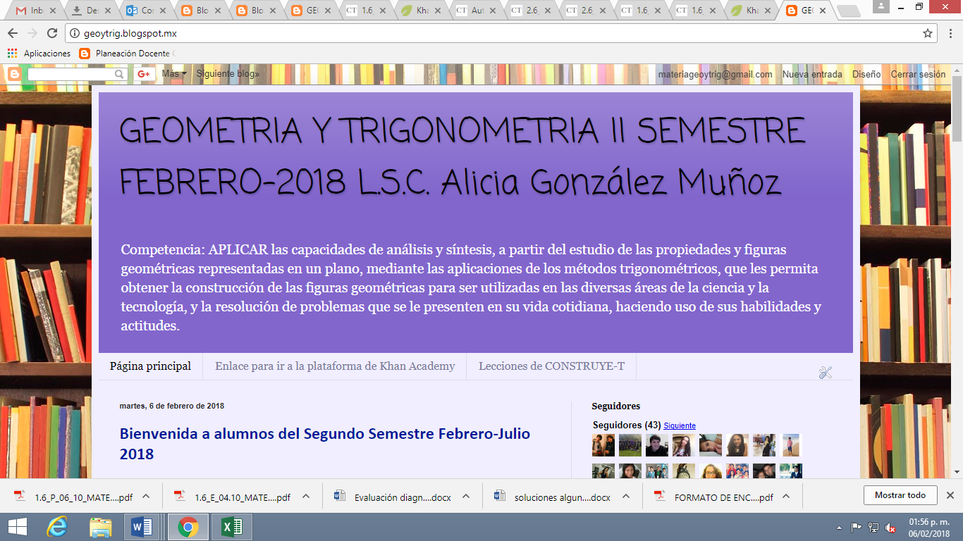 GEOMETRIA Y TRIGONOMETRIA II SEMESTRE FEBRERO-2018 L.S.C. Alicia ...