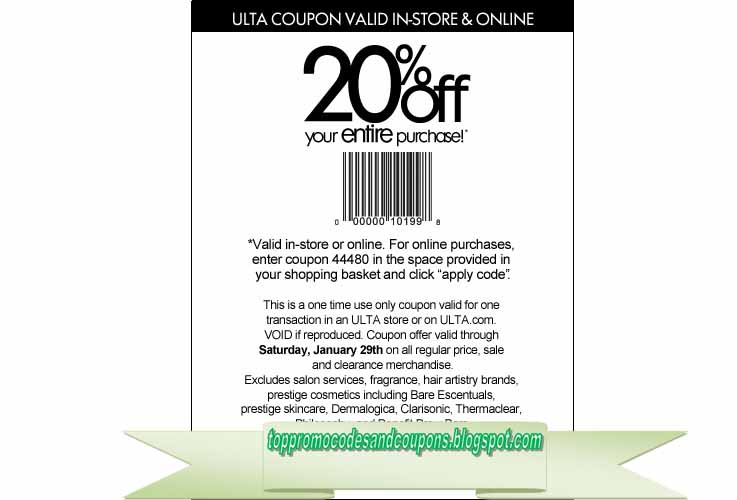 Free Promo Codes And Coupons 2020 Ulta Coupons