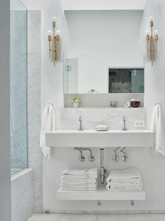 Beautiful abodes small bathrooms can have double sinks - Double sinks in a small bathroom ...
