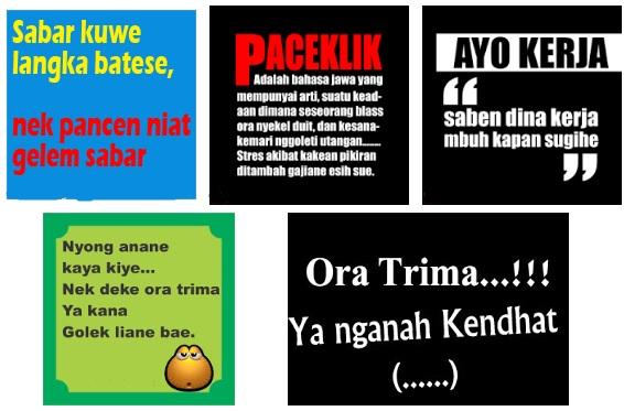 Kata Bijak Bahasa Jawa Kasar Istikomah