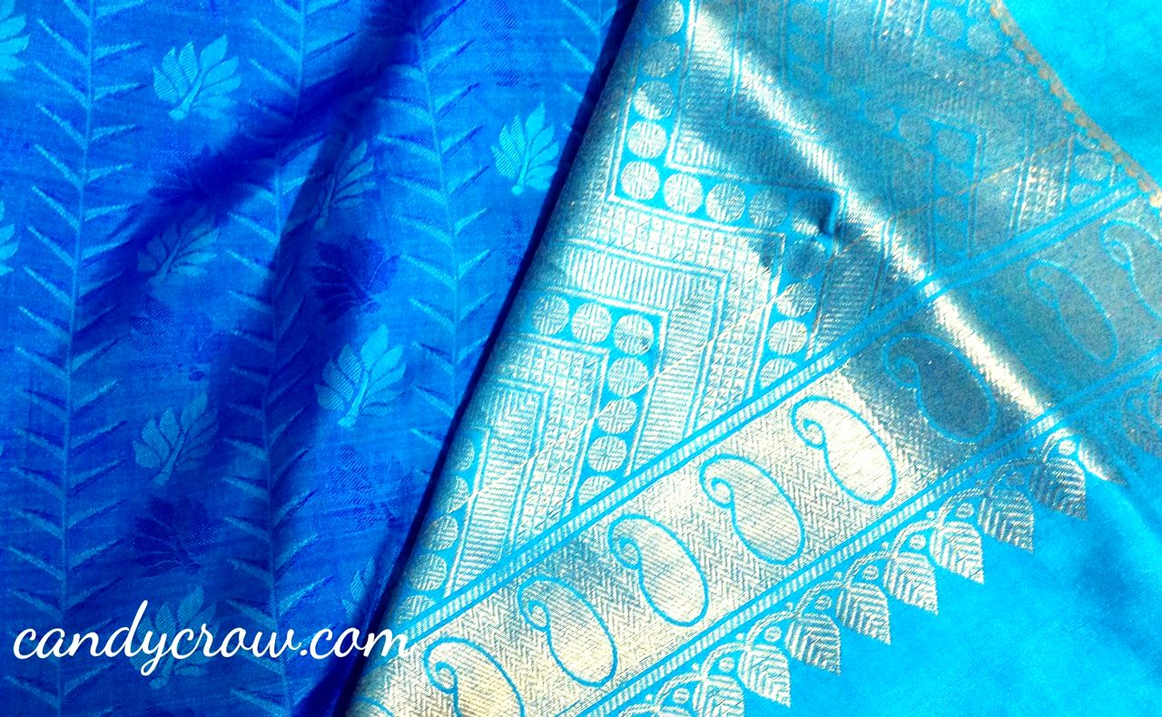 custom made silk saree