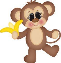 Dibujos A Color Monos Infantiles Preciosos