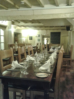 The Fox and Hounds Inn, Llancarfan, main restaurant area