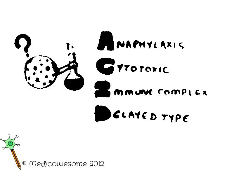Immense Immunology Insight — Hypersensitivity types mnemonic