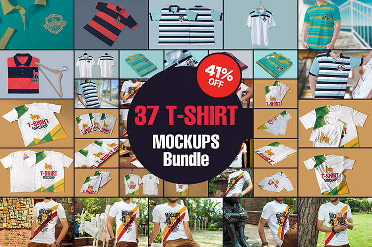 The Amazing T-Shirt Mockups Bundle