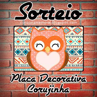 Sorteio Placa Decorativa Corujinha
